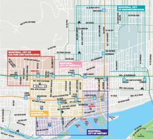 New Public Art Map Art Public Montréal - Old montreal map