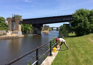 An artistic intervention on the Lachine Canal National Historic Site