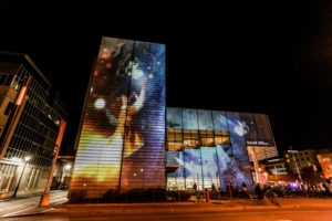 Projection inspired by a masterpiece by Bruegel l'Ancien
